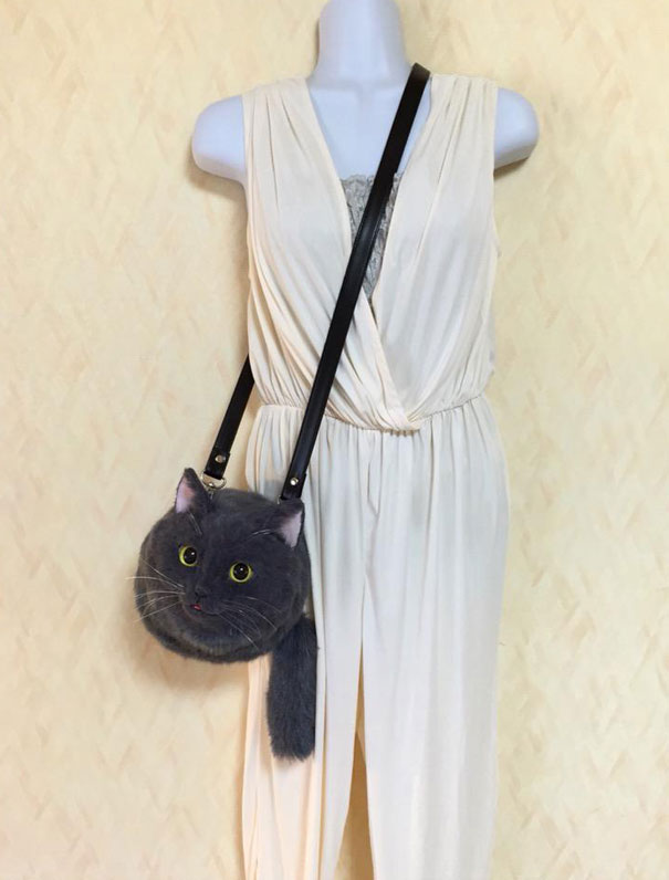 Creative Handmade realistic cat bags pico 04 Creative Cute Cat Bags Are A New Craze In Japan