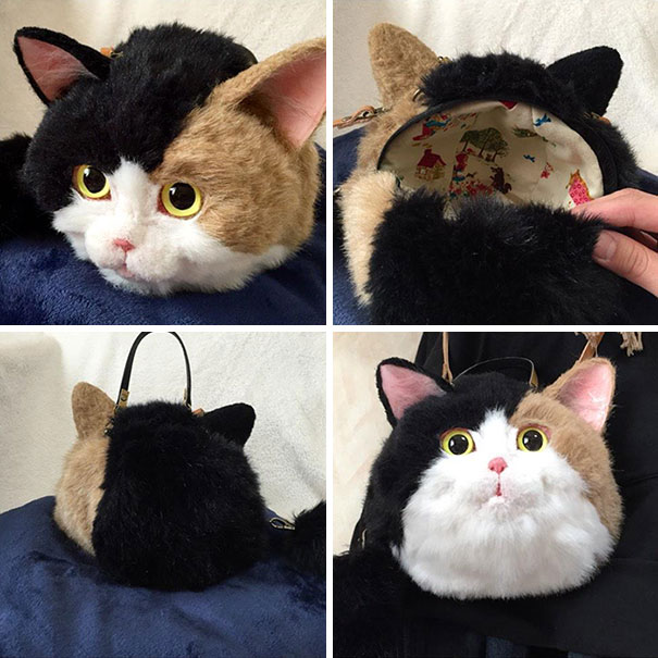 Creative Handmade realistic cat bags pico 07 Creative Cute Cat Bags Are A New Craze In Japan
