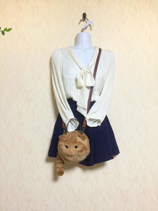 Creative Handmade realistic cat bags pico 08 Creative Cute Cat Bags Are A New Craze In Japan