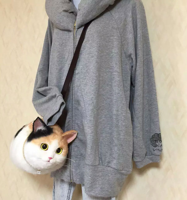 Creative Handmade realistic cat bags pico 63 Creative Cute Cat Bags Are A New Craze In Japan