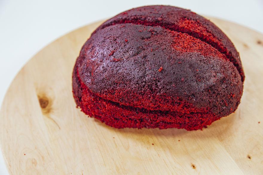 How to make A Red Velvet Brain Cake For Halloween Creative Idea : How To Make A Red Velvet Brain Cake For Halloween