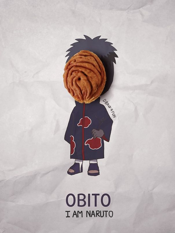 Obito Character Created From Regular Objects Creative Artwork: Create Naruto Illustrations Using Everyday Objects