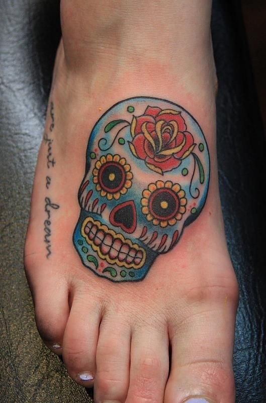 Small Sugar Skull Tattoo Sugar Skull Tattoo Meaning