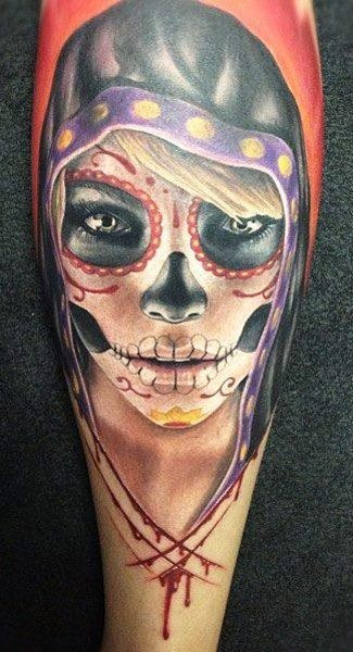 Sugar Skull Tattoo ideas for women 03 Sugar Skull Tattoo Meaning