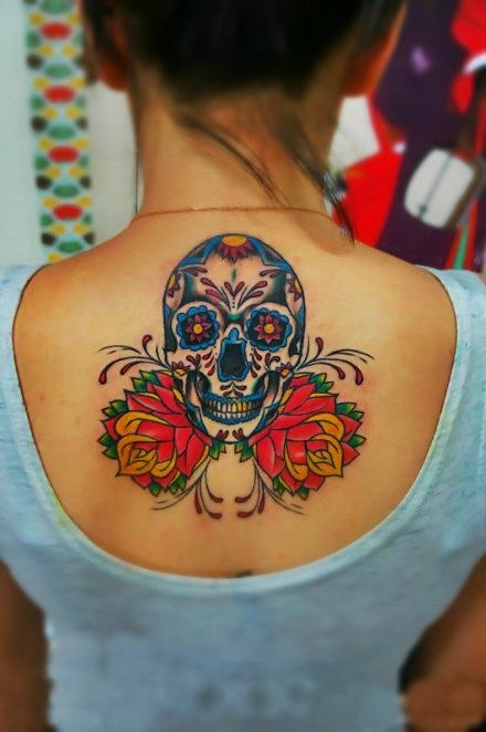 Sugar Skull Tattoo ideas for women Sugar Skull Tattoo Meaning