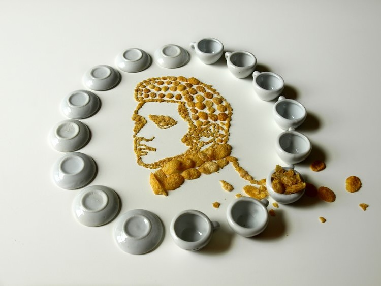 Unique art work design Extraordinary of Unique Art and Made from Cornflakes