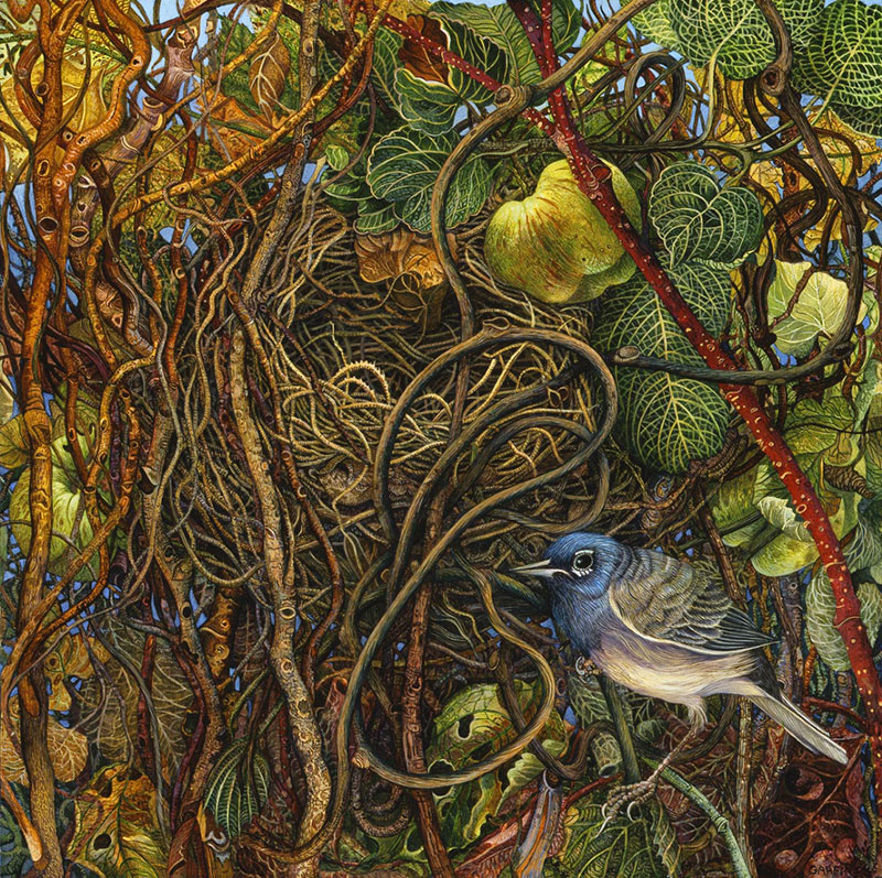 Amazing Detailed Paintings by judy garfin Highly Detailed Paintings of Gardens by Judy Garfin