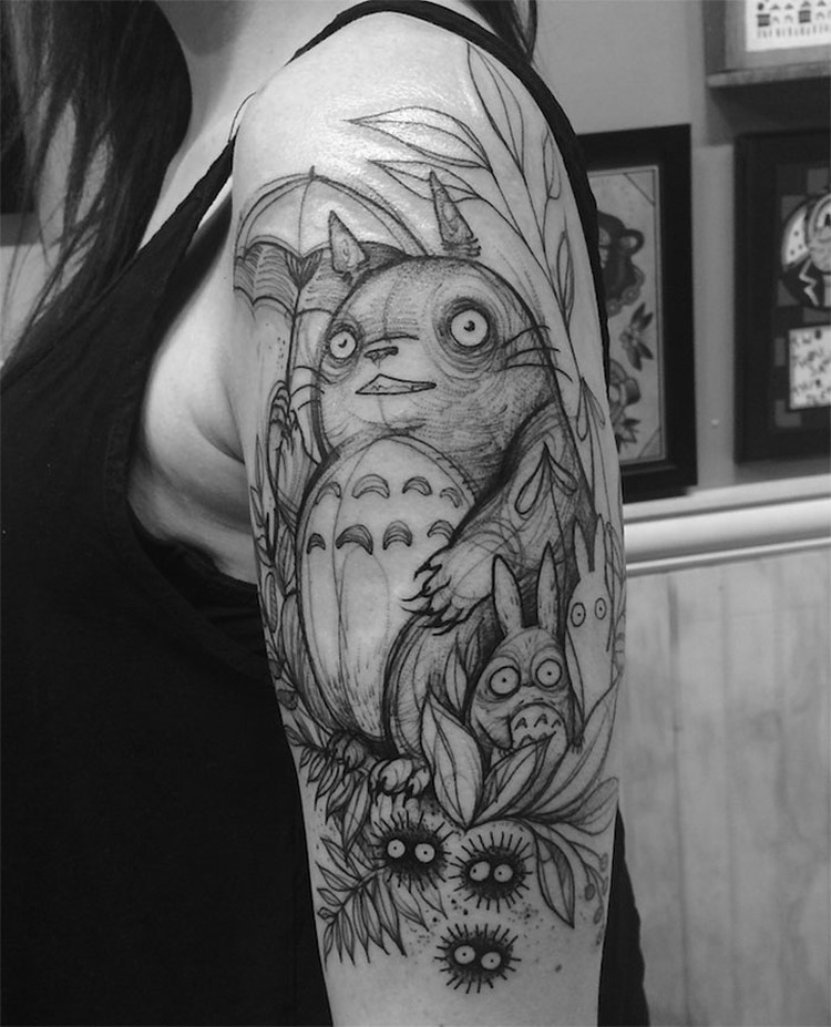 Creative Tattoo Ideas: Tatto Look Like Pencil Drawings