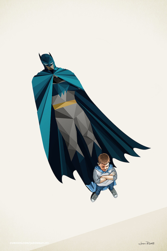 Batman Illustrations of childhood imagination by Jason Ratliff 682x1024 Creative Illustration of childhood imagination by Jason Ratliff