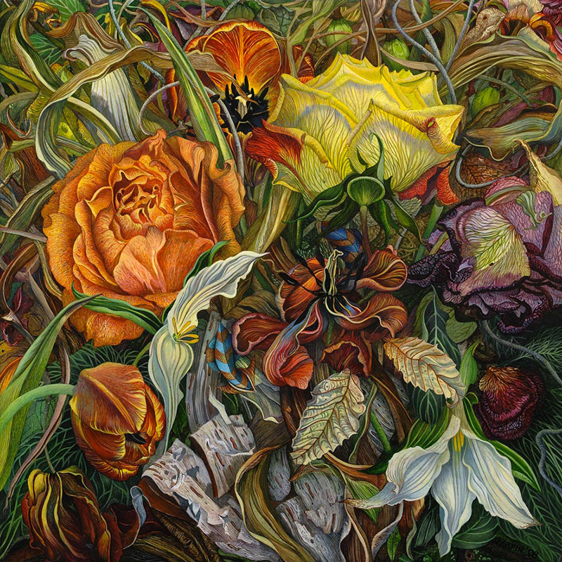 Beautiful Detailed Paintings by judy garfin 01 Highly Detailed Paintings of Gardens by Judy Garfin