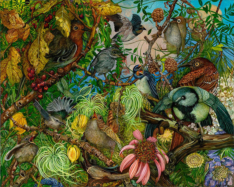 Beauty Detailed Paintings by judy garfin Highly Detailed Paintings of Gardens by Judy Garfin