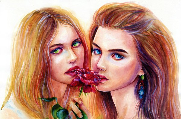 Beauty Paintings art Ideas by Lina Watercolor Paintings Ideas by Lina
