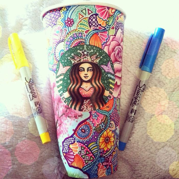 Beauty Starbucks Cups Art Creative Art Work: Turn Starbucks Cups Into Beauty Art