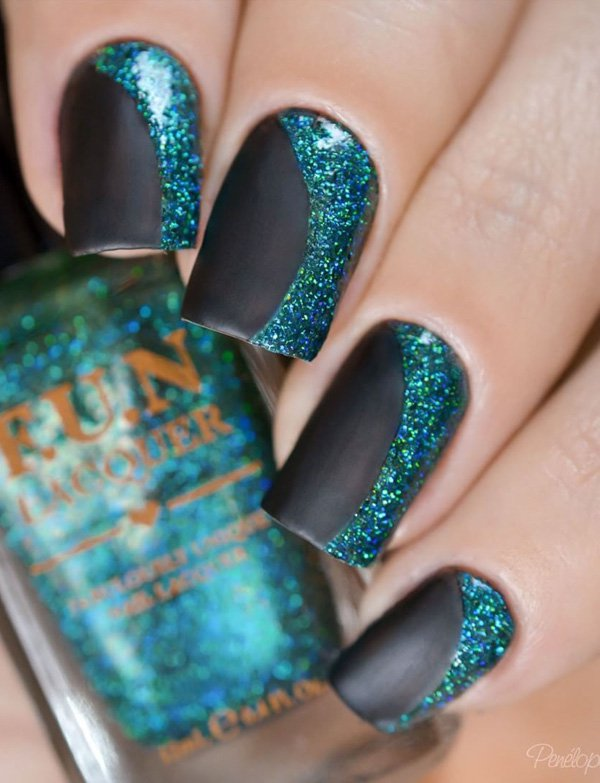 Black and green Nail Art desgin 20 Best and Beauty Nail Art Design Ideas