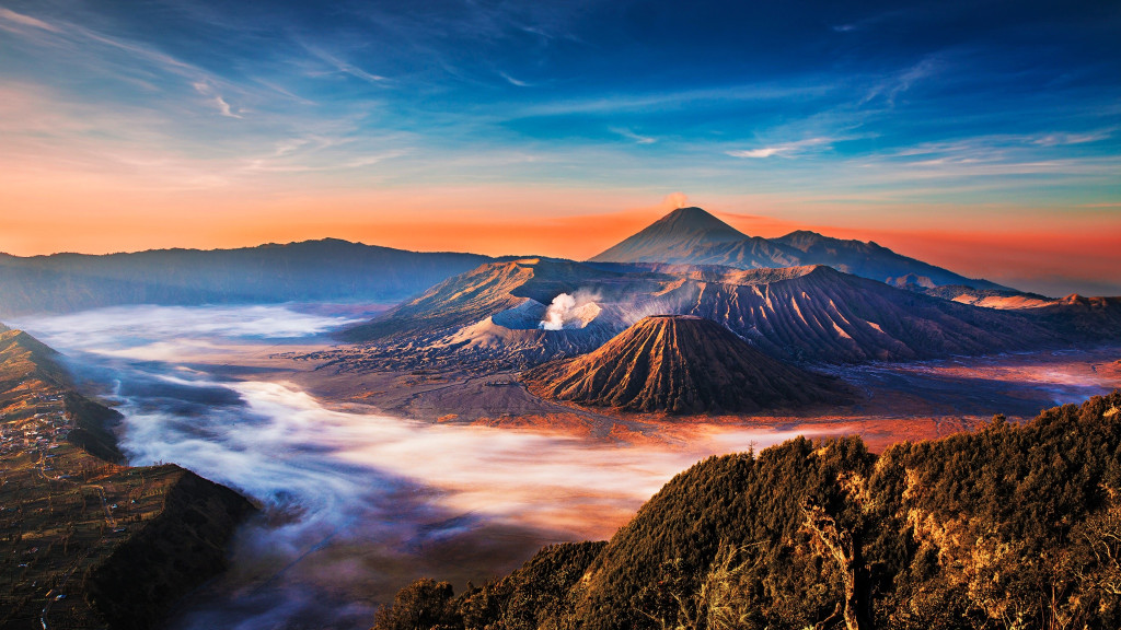 Bromo Mountain 1024x576 Most Beautiful Places should you know in Indonesia