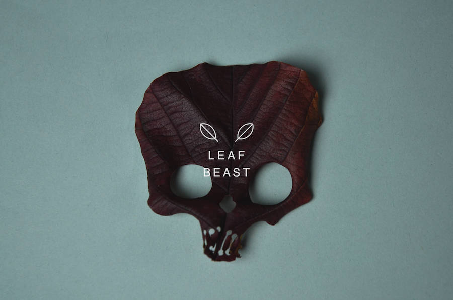 Creative Art of Skulls Leaf Beast Series by Baku Maeda