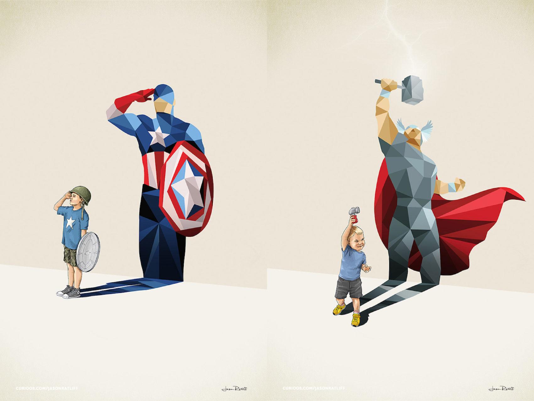 Creative Illustration of childhood imagination by Jason Ratliff