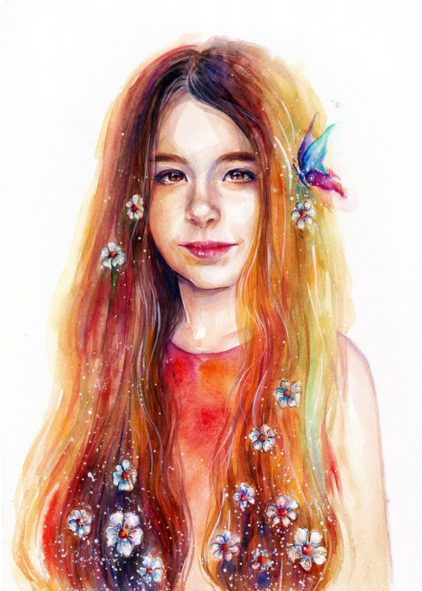 Creative Watercolor Paintings by Lina Watercolor Paintings Ideas by Lina