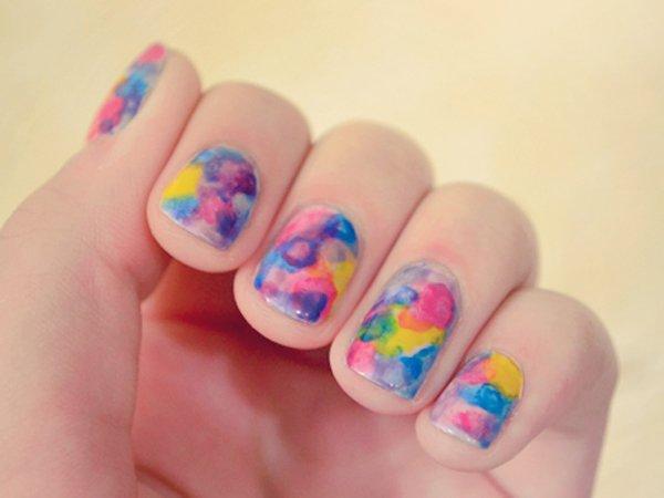 Cute Watercolor Nail Art Idea Pretty Watercolor Nail Art Ideas