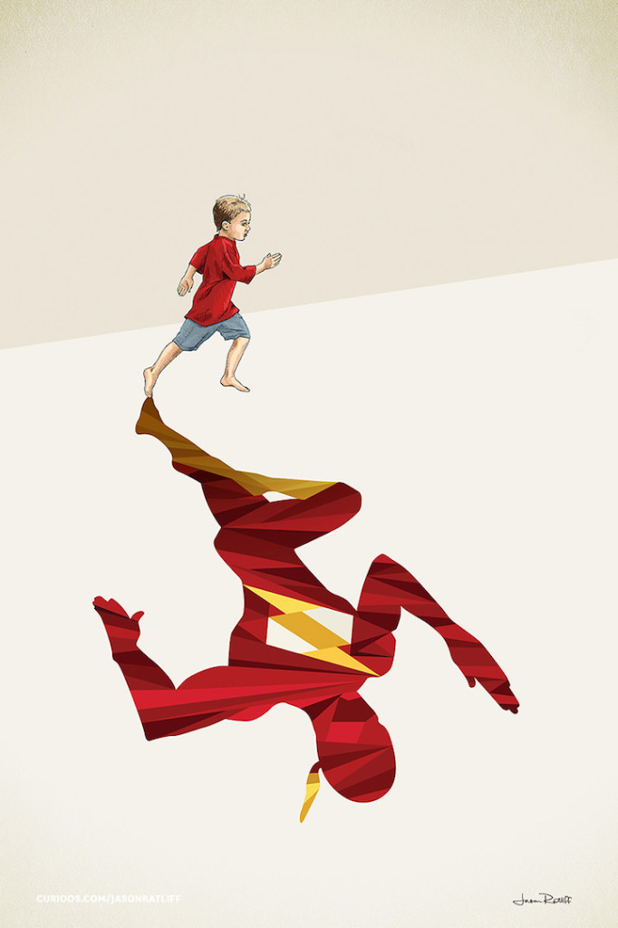 Flash Illustration of childhood imagination by Jason Ratliff 682x1024 Creative Illustration of childhood imagination by Jason Ratliff