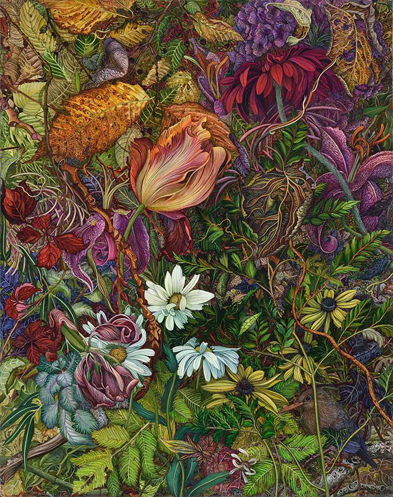 Highly Detailed Paintings by judy garfin 02 Highly Detailed Paintings of Gardens by Judy Garfin