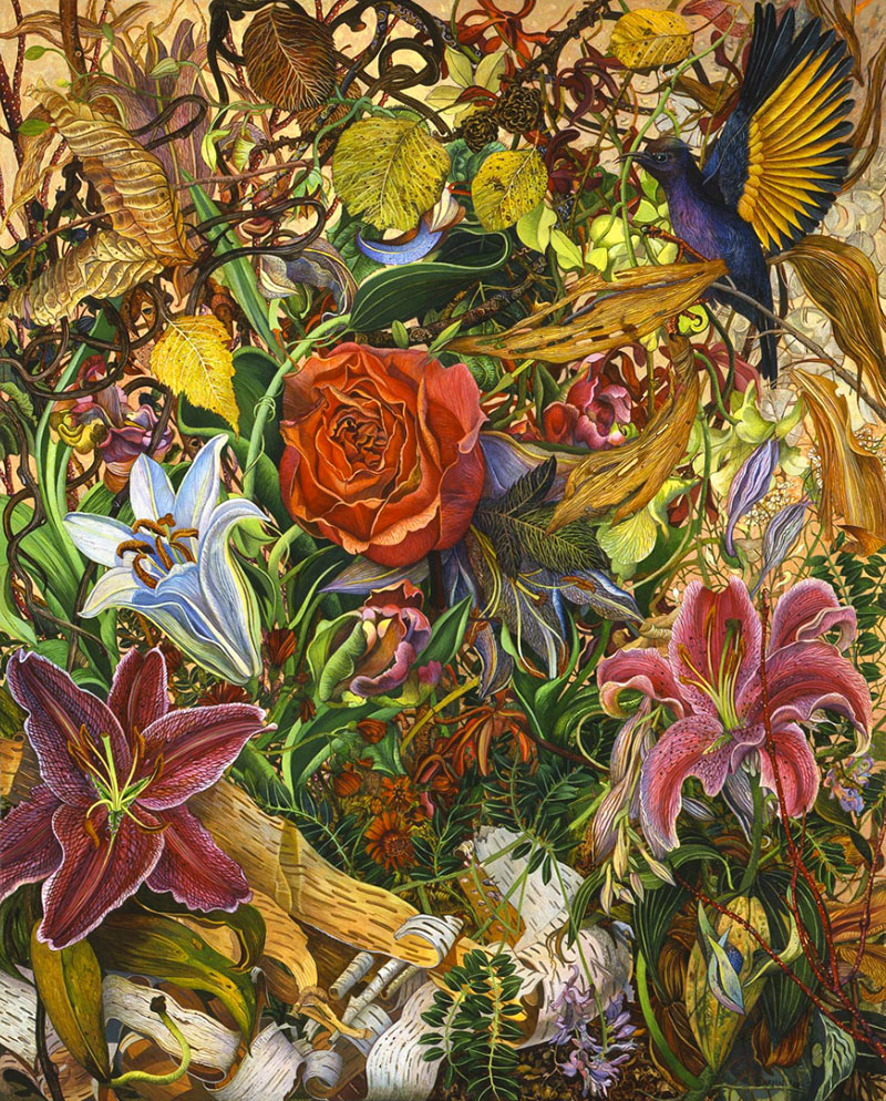 Highly Detailed Paintings by judy garfin 04 Highly Detailed Paintings of Gardens by Judy Garfin