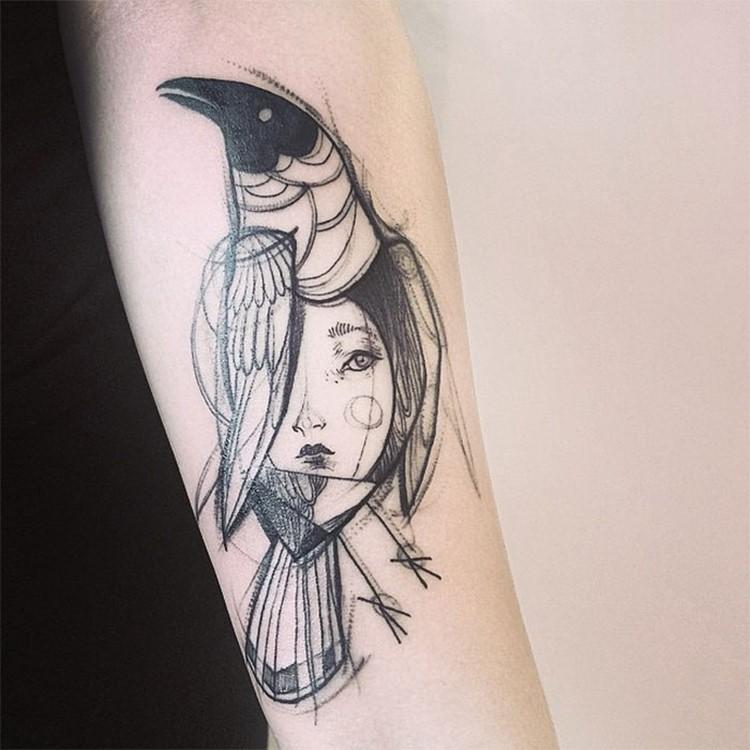 Minimalist tattoo design idea Creative Tattoo Ideas: Tatto Look Like Pencil Drawings