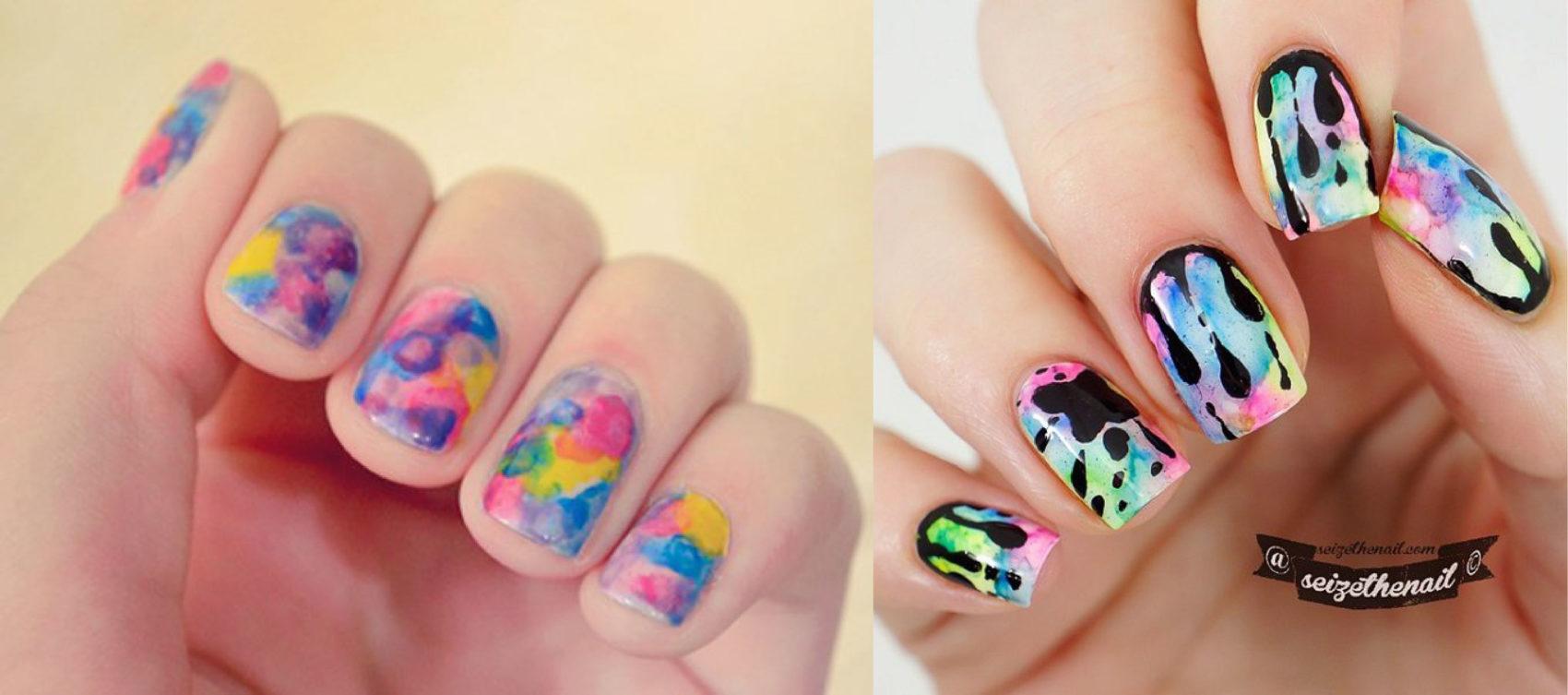 Pretty Watercolor Nail Art Ideas | 99inspiration