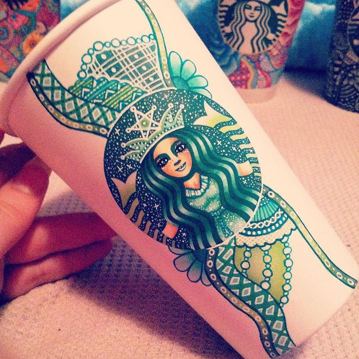 Starbucks Cups Into Beauty Art Creative Art Work: Turn Starbucks Cups Into Beauty Art