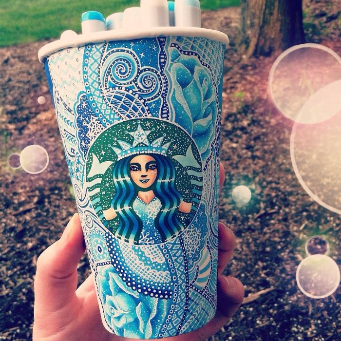Turn Starbucks Cups Into Beauty Art Creative Art Work: Turn Starbucks Cups Into Beauty Art
