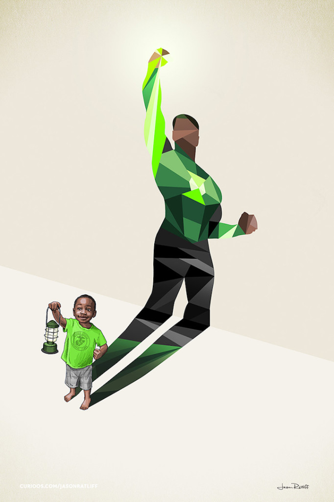 green lantern Creative Illustration of childhood imagination by Jason Ratliff 682x1024 Creative Illustration of childhood imagination by Jason Ratliff