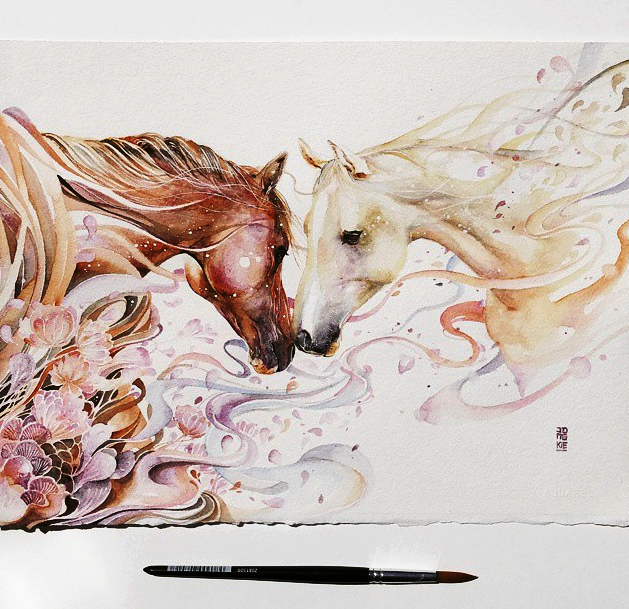 Amazing Watercolor Paintings ideas Gorgeous Watercolor Paintings by Luqman Reza Mulyono
