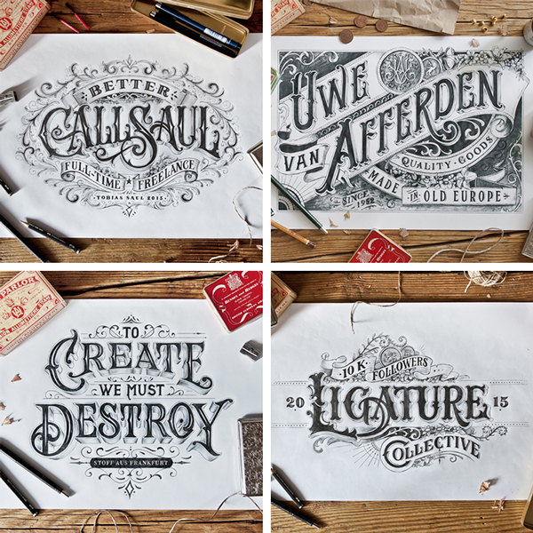 Beautiful Hand Lettering Type Artworks 2015 by Tobias Saul Stunning Hand drawn Type Artworks 2015 by Tobias Saul