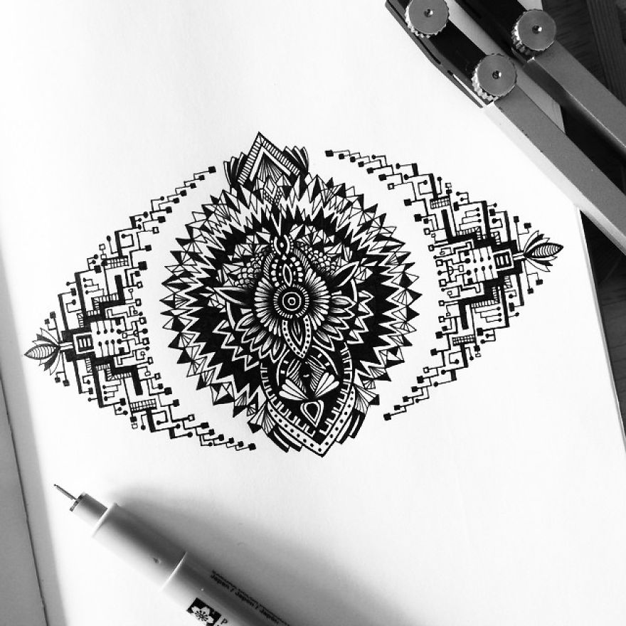 Black and White Detailed Drawing Art by Pavneet Sembhi 01 Black and White Detailed Drawing Art by Pavneet Sembhi