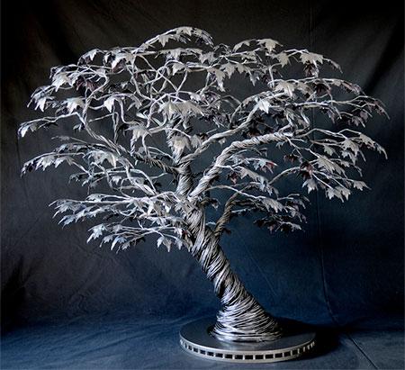 Bonsai Wire Sclupture Art by Richard Stainthorp Creative Wire Sculpture Art by Richard Stainthorp