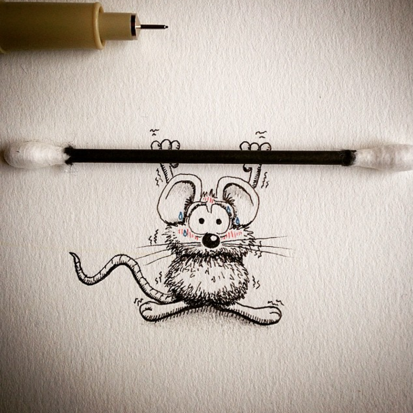 Creative Drawing Art Make from Everyday Object 0 Creative Drawing : Make Everyday Object Into Funny Art