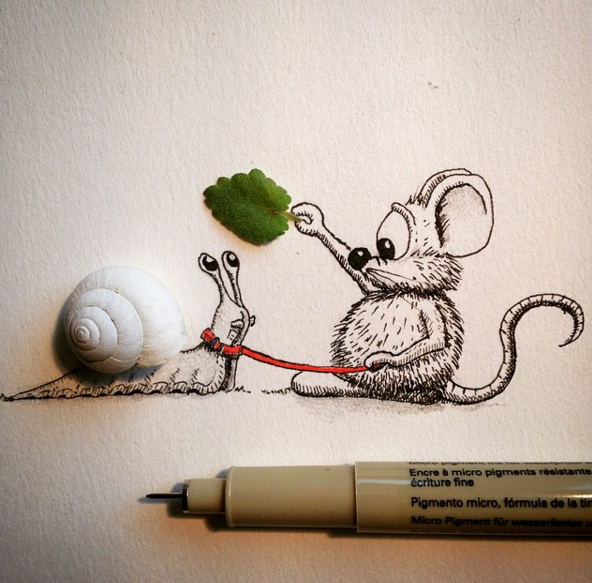 Creative drawing make everyday object into funny art for How to make creative drawings