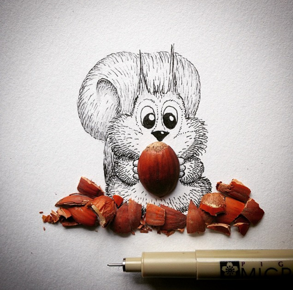 Creative Drawing Art Make from Everyday Object 11