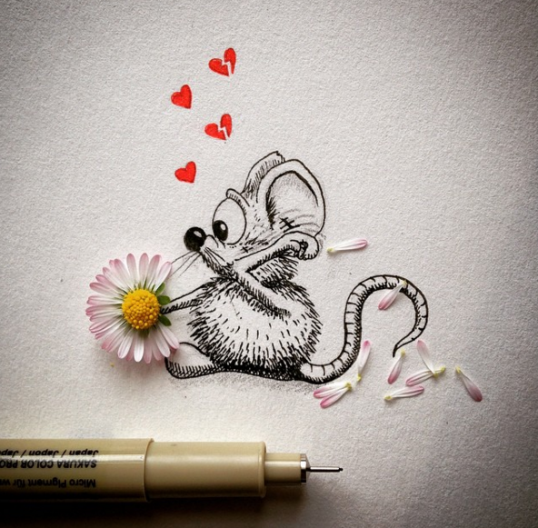 Creative Drawing art Make Everyday Object Into Funny Art
