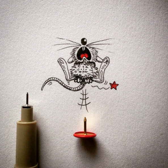 Creative Funny Art Drawings Creative Drawing Make Everyday Object Into Funny Art