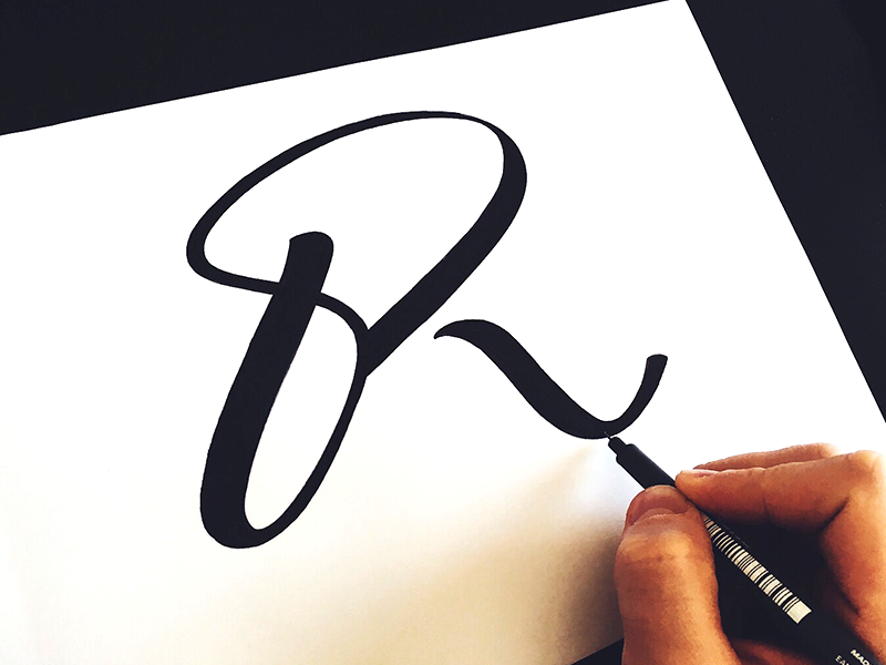 Creative Lettering logo Design by Tadas For Sure Fancy Hand Lettering Fonts Design by Tadas For Sure