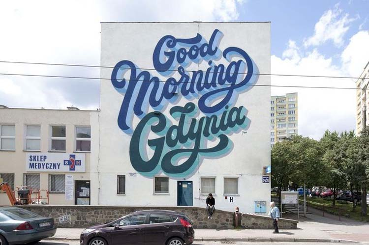 Creative Street Art and Graffiti Designs Good Morning Gdynia Creative Street Art and Graffiti Designs