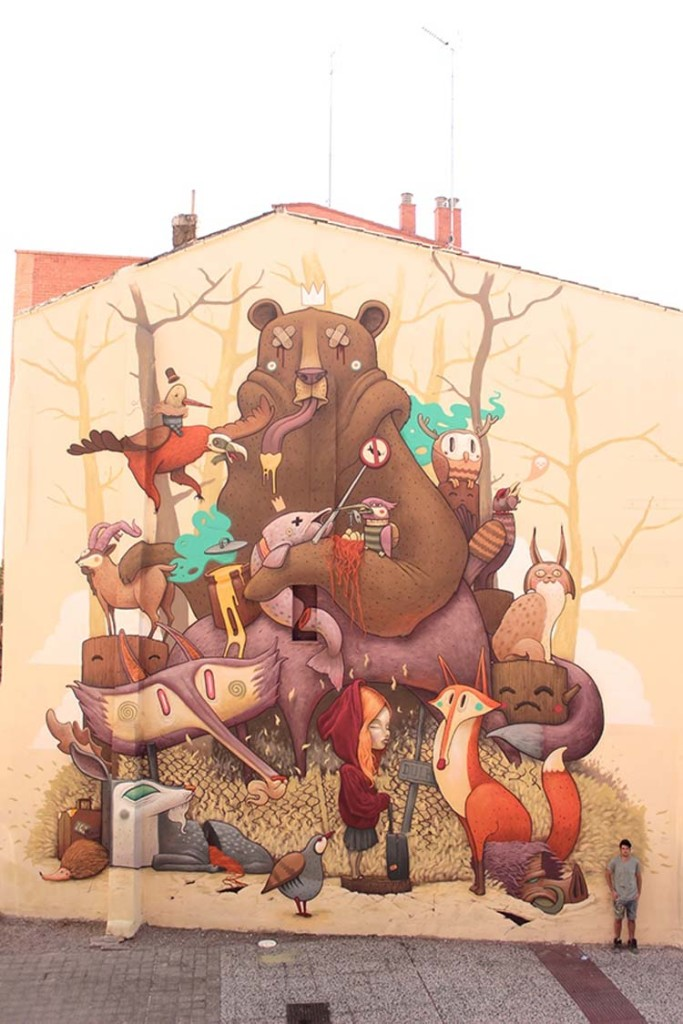 Creative Street Art and Graffiti Designs Tribute to the iberian wildlife 683x1024 Creative Street Art and Graffiti Designs
