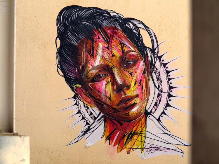 Creative Street Art and Graffiti Designs by Hopare in Les 2 Alpes Creative Street Art and Graffiti Designs