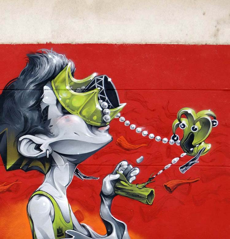 Creative Street Art and Graffiti Designs isaac mahow zupi Creative Street Art and Graffiti Designs