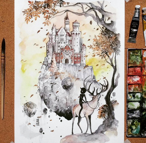 Creative Watercolor Paintings by Luqman Reza Mulyono Gorgeous Watercolor Paintings by Luqman Reza Mulyono