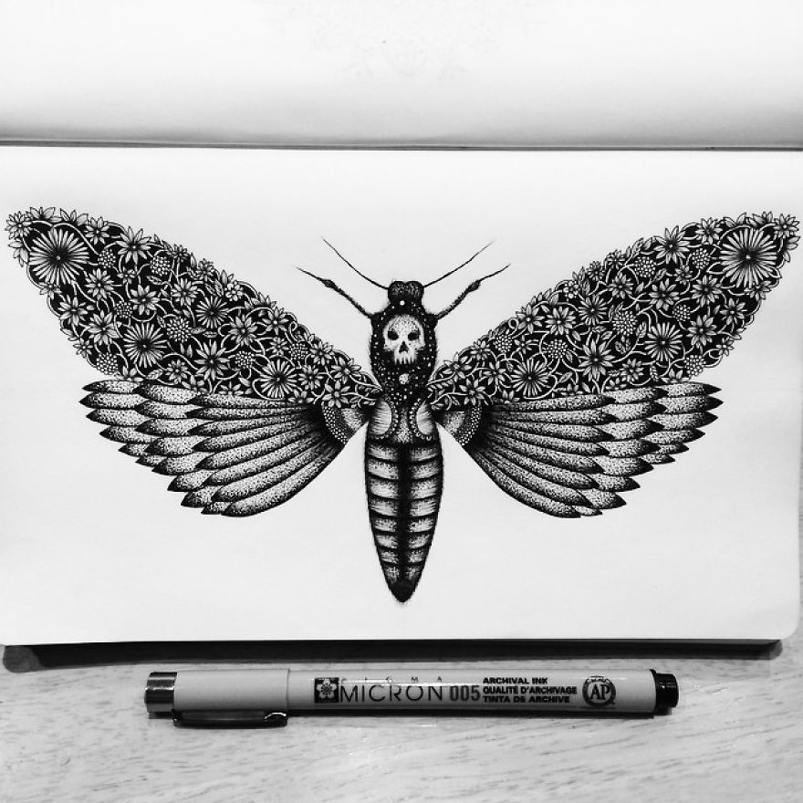 Detailed Drawing Art by Pavneet Sembhi Black and White Detailed Drawing Art by Pavneet Sembhi