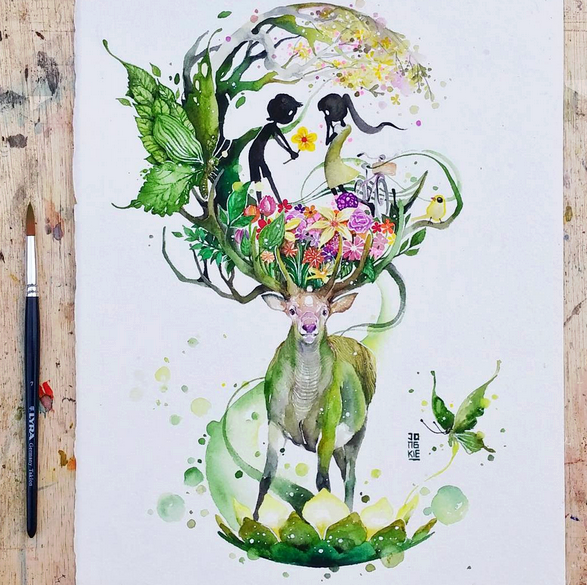 Gorgeous Watercolor Paintings ideas Gorgeous Watercolor Paintings by Luqman Reza Mulyono