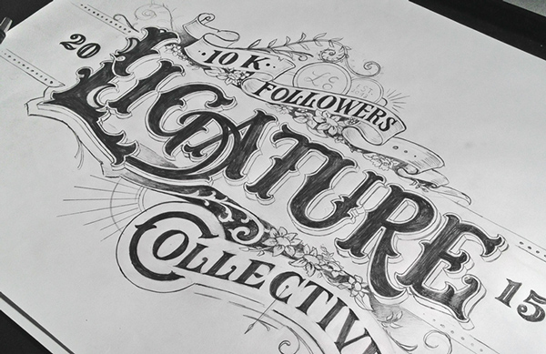 Hand drawing Type Artworks 2015 by Tobias Saul Stunning Hand drawn Type Artworks 2015 by Tobias Saul