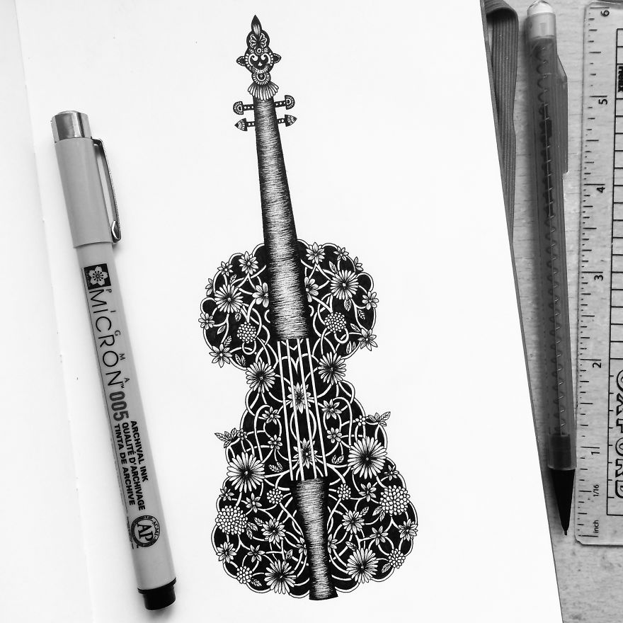 Incredible Detailed Drawing Art by Pavneet Sembhi Black and White Detailed Drawing Art by Pavneet Sembhi